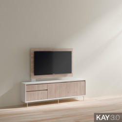 MUEBLE TV CON PANEL GIRATORIO